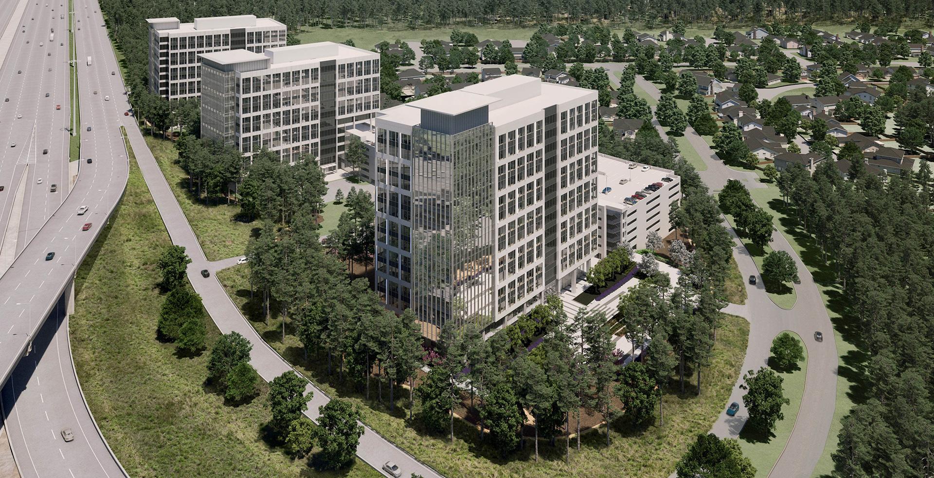aerial site rendering