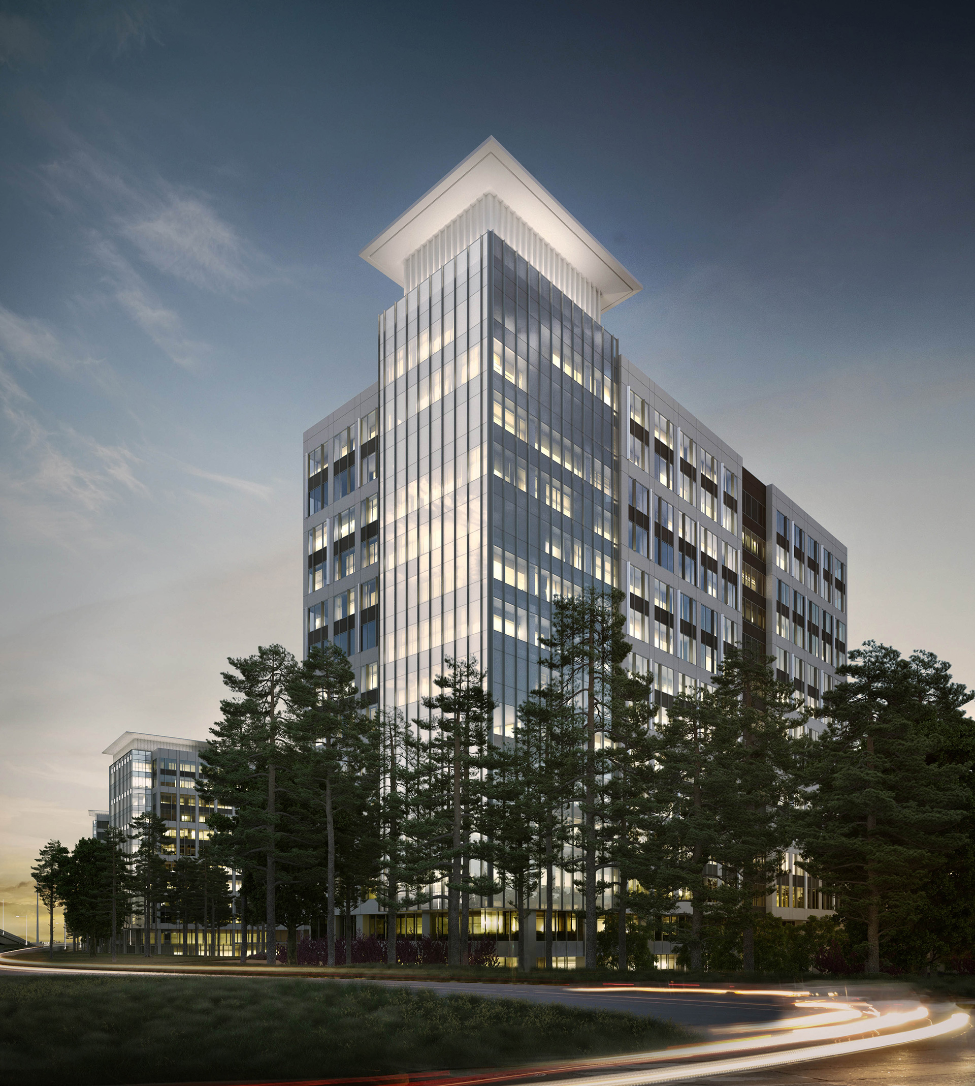 office building rendering